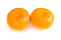 Os dois mandarino Imagens de Stock