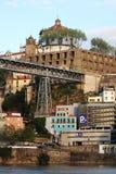 Os DOM LuÃs que eu construo uma ponte sobre, Porto, Portugal Foto de Stock