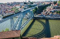 Os DOM Luis que eu construo uma ponte sobre em Porto, Portugal Fotografia de Stock