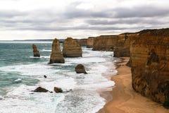 Os doze apóstolos em Austrália Fotografia de Stock Royalty Free