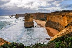 Os doze apóstolos na grande estrada do oceano, Austrália imagem de stock