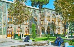 Os edifícios do palácio de Golestan, Tehran Fotos de Stock Royalty Free