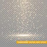 Os efeitos da luz de incandescência do brilho isolaram realístico Fotos de Stock Royalty Free