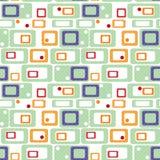 Os elementos brilhantes abstratos geométricos caçoam o teste padrão sem emenda c retro Fotografia de Stock