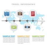 Os elementos coloridos de Infographic do curso o conceito para o negócio e apresentações projetam o estilo liso Imagem de Stock Royalty Free