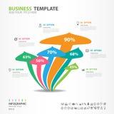 Os elementos de Infographics diagram com 6 etapas, opções, ícone do cogumelo, design web, apresentação, ilustração do vetor Imagem de Stock