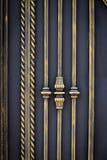 Os elementos decorativos bonitos do metal forjaram portas do ferro forjado foto de stock