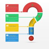 Os elementos do infographics, molde do círculo do projeto moderno, podem ser usados para o infographics, vetor Imagens de Stock