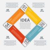 Os elementos do projeto de INFOGRAPHICS vector a ilustração Imagens de Stock