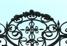 Os elementos esboçados de uma cerca do metal Foto de Stock Royalty Free