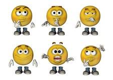 os Emoticons 3D ajustaram 3 Fotografia de Stock Royalty Free