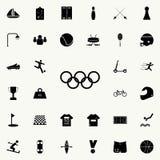 OS:en ringer symbolen Universell uppsättning för sportsymboler för rengöringsduk och mobil stock illustrationer