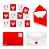 Os envelopes ajustaram 2 - amor Foto de Stock