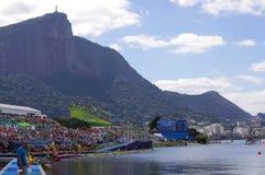 OS:er som Rio2016 ror konkurrenser Royaltyfria Bilder