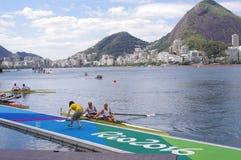 OS:er som Rio2016 ror konkurrenser Royaltyfri Bild