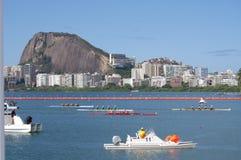 OS:er som Rio2016 ror konkurrenser Royaltyfri Fotografi