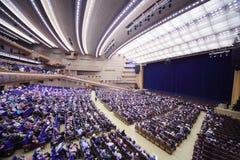 Os espectadores ocupam assentos antes do concerto Edyta Piecha do aniversário Fotografia de Stock Royalty Free