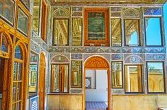 Os espelhos da casa de Qavam, Shiraz, Irã Imagem de Stock Royalty Free