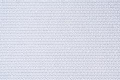 Os esportes brancos da textura da tela da roupa do jérsei do futebol vestem Foto de Stock Royalty Free