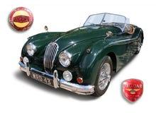 Os esportes britânicos clássicos Jaguar automobilístico de Jaguar XK140 isolaram-se imagens de stock royalty free