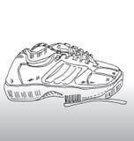 Os esportes calç e escovam Fotografia de Stock Royalty Free