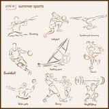 Os esportes do verão ilustração stock