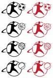 Os esportes ilustraram ícones Fotos de Stock Royalty Free