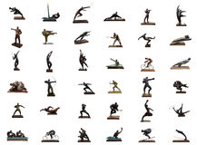 Os esportes olímpicos sculpture a colagem imagem de stock