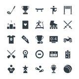 Os esportes refrigeram os ícones 5 do vetor ilustração stock