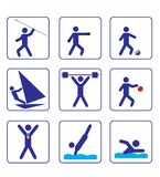 Os esportes stylize ícones ajustaram um no vetor Fotos de Stock