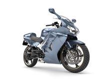 Os esportes super metálicos do azul de aço bike - o tiro da beleza ilustração do vetor