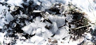 Os estilhaços do gelo Fotografia de Stock Royalty Free