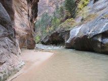 Os estreitos, parque nacional de Zion, Utá Imagens de Stock