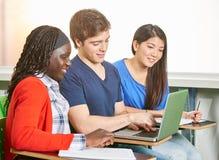 Os estudantes fazem a equipe trabalhar Imagem de Stock