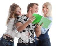 Os estudantes preparam-se para a examinação Fotografia de Stock Royalty Free