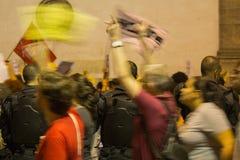 Os estudantes protestam atrav?s de Brasil sobre Jair Bolsonaro & x27; cortes varrendo de s ? educa??o fotos de stock royalty free
