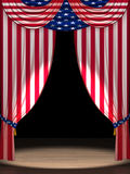 Os EUA embandeiram como cortinas Fotografia de Stock Royalty Free