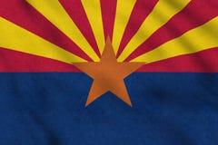 Os EUA embandeiram do Arizona que acena delicadamente no vento jpg ilustração do vetor