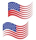 Os EUA embandeiram, ilustração americana do vetor do fundo ilustração royalty free