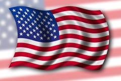 Os EUA embandeiram isolado Fotos de Stock