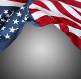 Os EUA embandeiram no cinza Imagens de Stock