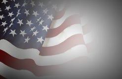 Os EUA embandeiram no cinza Foto de Stock Royalty Free