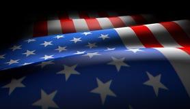 Os EUA embandeiram a ondulação Ilustração do Vetor