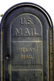Os EUA enviam, afixam a caixa Imagem de Stock
