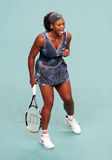 Os EUA 's Serena Williams reagem em GDF aberto Suez Imagem de Stock