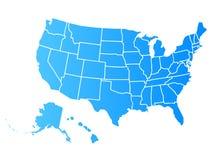 Os EUA similares vazios traçam isolado no fundo branco País do Estados Unidos da América Vector o molde para o Web site, projete- ilustração stock