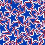 Os EUA Star a ilustração abstrata em um teste padrão sem emenda Fotos de Stock Royalty Free