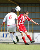Os EUA team contra a equipe de IRÃ, futebol da juventude Fotos de Stock