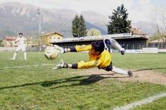 Os EUA team contra a equipe de IRÃ, futebol da juventude Imagem de Stock