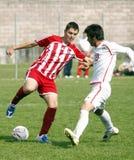 Os EUA team contra a equipe de IRÃ, futebol da juventude Fotos de Stock Royalty Free
